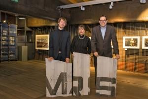 """Ausstellung """"Laden und Löschen - von der Sackkarre bis zum Container"""", von li nach re: Michael Grünwald, Brigitte Kraemer, Dr.Arnulf Siebeneicker"""