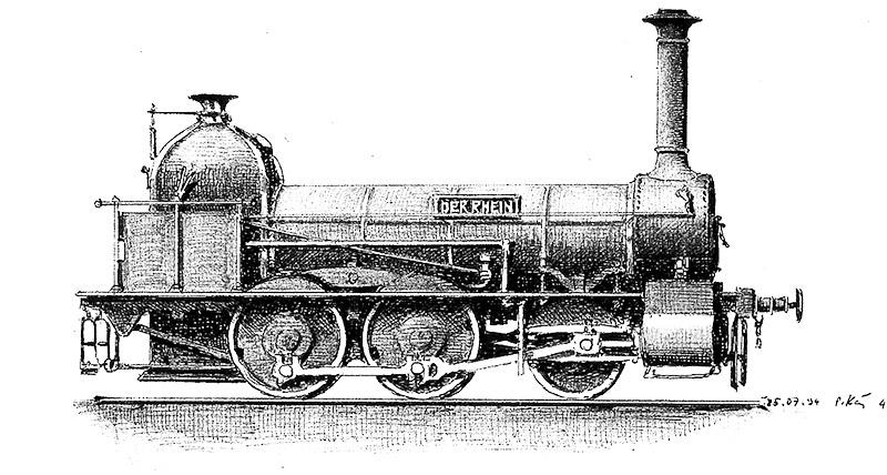 Lokomotive Rhein Bergung